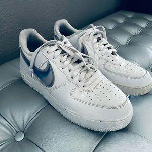 Nike Air Force 1 Oversized Swoosh White Racer Blue